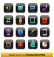 tablet buttons collection isolated vector image