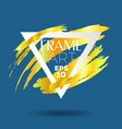 triangle with gold brush frame art vector image vector image