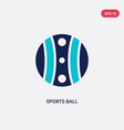 two color sports ball icon from entertainment vector image