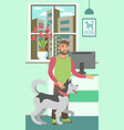 veterinary clinic flat color vector image vector image