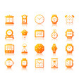 watch simple gradient icons set vector image vector image