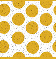 yellow circles and black chaotic dots on white vector image vector image