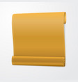 yellow curved realistic paper scroll vector image vector image