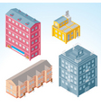 isolated isometric buildings 2 vector image