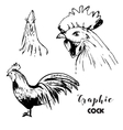 graphic cock set vector image