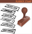 rubber stamp vector image