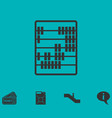 abacus icon flat vector image vector image