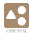 abnormal conceptual graphic icon vector image vector image