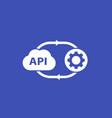 api cloud software icon vector image