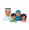 Arab Family members avatars in flat style vector image
