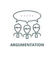 argumentation line icon linear concept vector image vector image