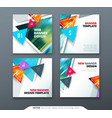 banner design square abstract banner with vector image