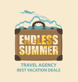 banner with travel suitcase and airplane vector image vector image