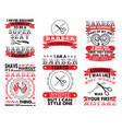 barber set quote bundle best for print design vector image