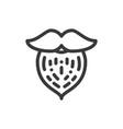 beard icon vector image vector image