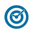 Blue target conceptual clock icon vector image