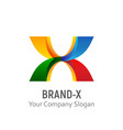brand x logo template vector image