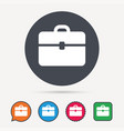 briefcase icon diplomat handbag sign vector image