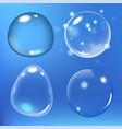 bubbles under water on blue vector image