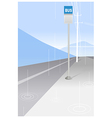 Bus stop sign and power pole vector image