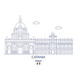 catania city skyline vector image