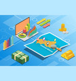 central african republic isometric financial vector image vector image