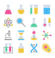 chemistry science laboratory colorful icon vector image