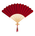 chinese fan on a white background vector image vector image