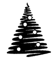 Christmas tree 1 vector image vector image