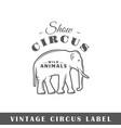 circus label vector image vector image