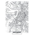 city map antwerp travel poster design vector image vector image