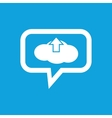 CLoud upload message icon vector image vector image