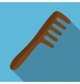 Comb flat icon vector image
