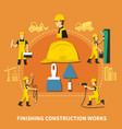 construction worker composition vector image vector image