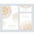Corporate identity with floral ornaments vector image vector image