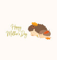 cute horizontal greeting card for mothers day with vector image