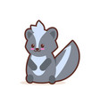 cute little skunk cartoon comic character with vector image