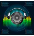 Dark music infographics vector image vector image