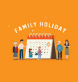 family holiday a poster depicting a large vector image