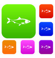 fish set collection vector image