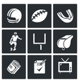 Football Icons Set vector image vector image