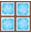 Frosted window vector image