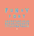 funny font alphabet letters vector image
