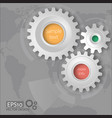 gears with on the grey background vector image