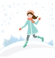 Girl in winter2 vector image vector image