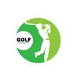 golf logo vector image vector image