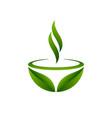 green tea symbol vector image vector image