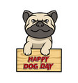 happy dog day vector image vector image