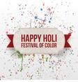 Happy Holi Festival of Color greeting paper Card vector image