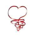 heart ribbon bow vector image vector image
